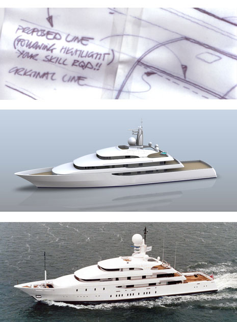 Ilona Super yacht by Redman Whiteley Dixon