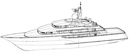 Wireframe Alias image of Ilona yacht