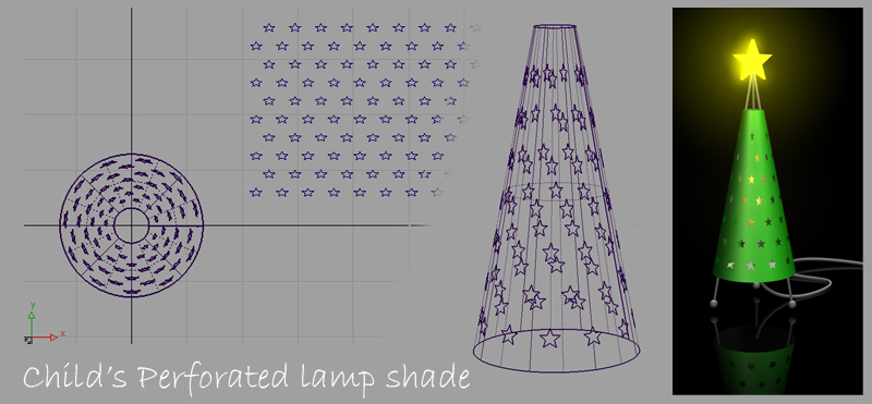 Image of a perforated lampshade